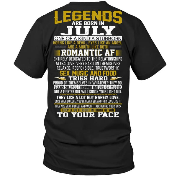 Legend Guy July - Hanes Tagless Tee / Black / S - Apparel