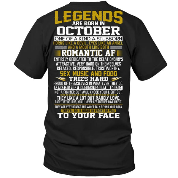 Legend Guy October - Hanes Tagless Tee / Black / S - Apparel