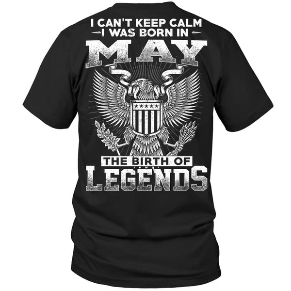 Legends Guy May - Hanes Tagless Tee / Black / S - Apparel