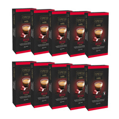 Caffitaly Espresso Collection Nespresso Compatible Coffee Capsules Intensity 10 - Deciso, 100 Pods - Pods and Beans