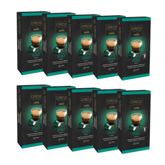 Caffitaly Espresso Collection Nespresso Compatible Coffee Capsules Intensity 8 - Vivace, 100 Pods - Pods and Beans