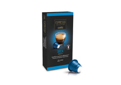 Caffitaly Espresso Collection Nespresso Compatible Coffee Bricks Capsules -  Deca 10 Pods - Pods and Beans