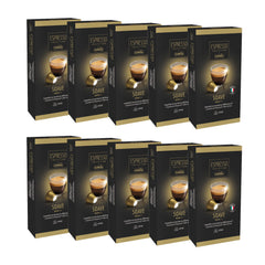 Caffitaly Espresso Collection Nespresso Compatible Coffee Bricks Capsules - Soave 100 Pods - Pods and Beans
