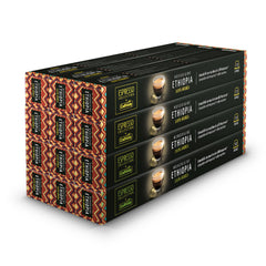 Caffitaly Nespresso Compatible Coffee Capsules Single Origin Ethiopia (120 Pods) - Pods and Beans