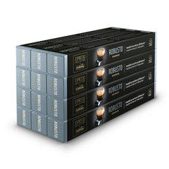 Caffitaly Stick Nespresso Compatible Coffee Capsules Intensity 10 Robusto, 120 Pods - Pods and Beans