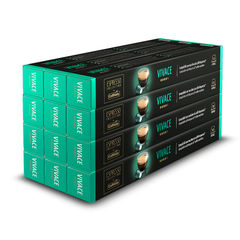 Caffitaly Stick Nespresso Compatible Coffee Capsules Intensity 8 Vivace, 120 Pods - Pods and Beans