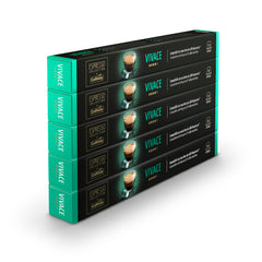 Caffitaly Nespresso Compatible Coffee Capsules Vivace (50 Pods) - Pods and Beans