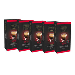 Caffitaly Espresso Collection Nespresso Compatible Coffee Capsules Intensity 10 - Deciso, 50 Pods - Pods and Beans