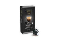 Caffitaly Espresso Collection Nespresso Compatible Coffee Bricks Capsules - Robusto 10 Pods - Pods and Beans