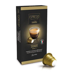Caffitaly Espresso Collection Nespresso Compatible Coffee Bricks Capsules - Soave 50 Pods - Pods and Beans