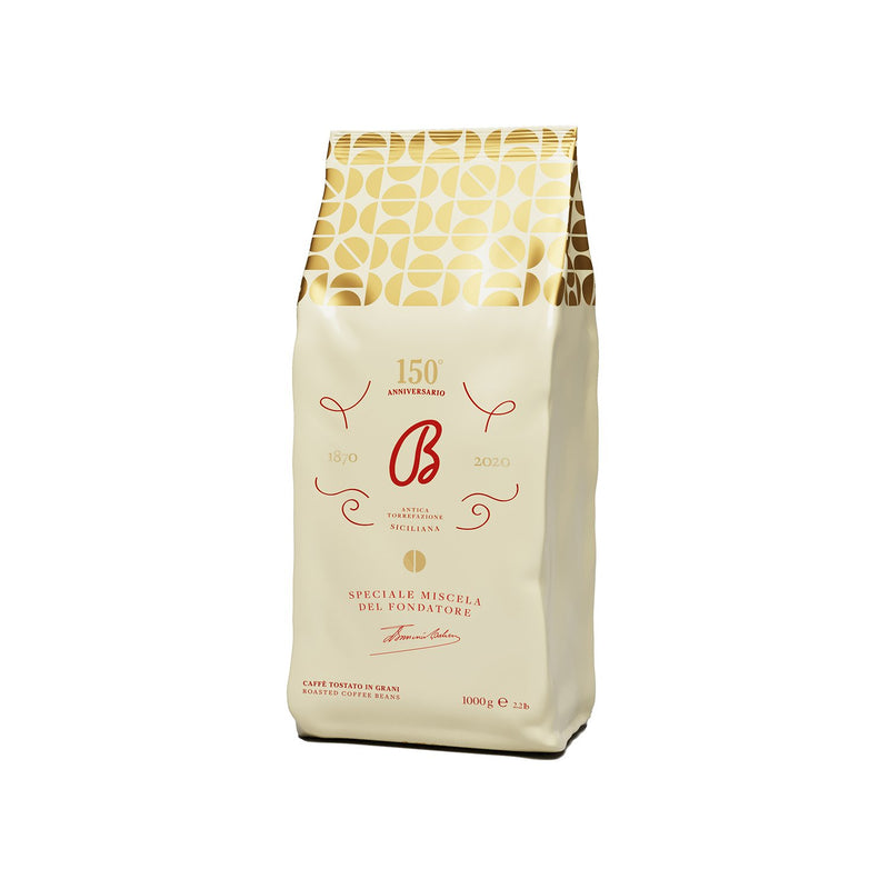 B1870 Barbera Fondatore Italian Extra Premium Roasted Coffee Beans 2.2lb, Pack of 1 - Pods and Beans