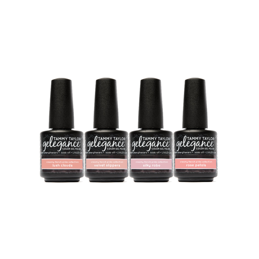 Creamy French Pinks Gelegance Gel Polish Bundle