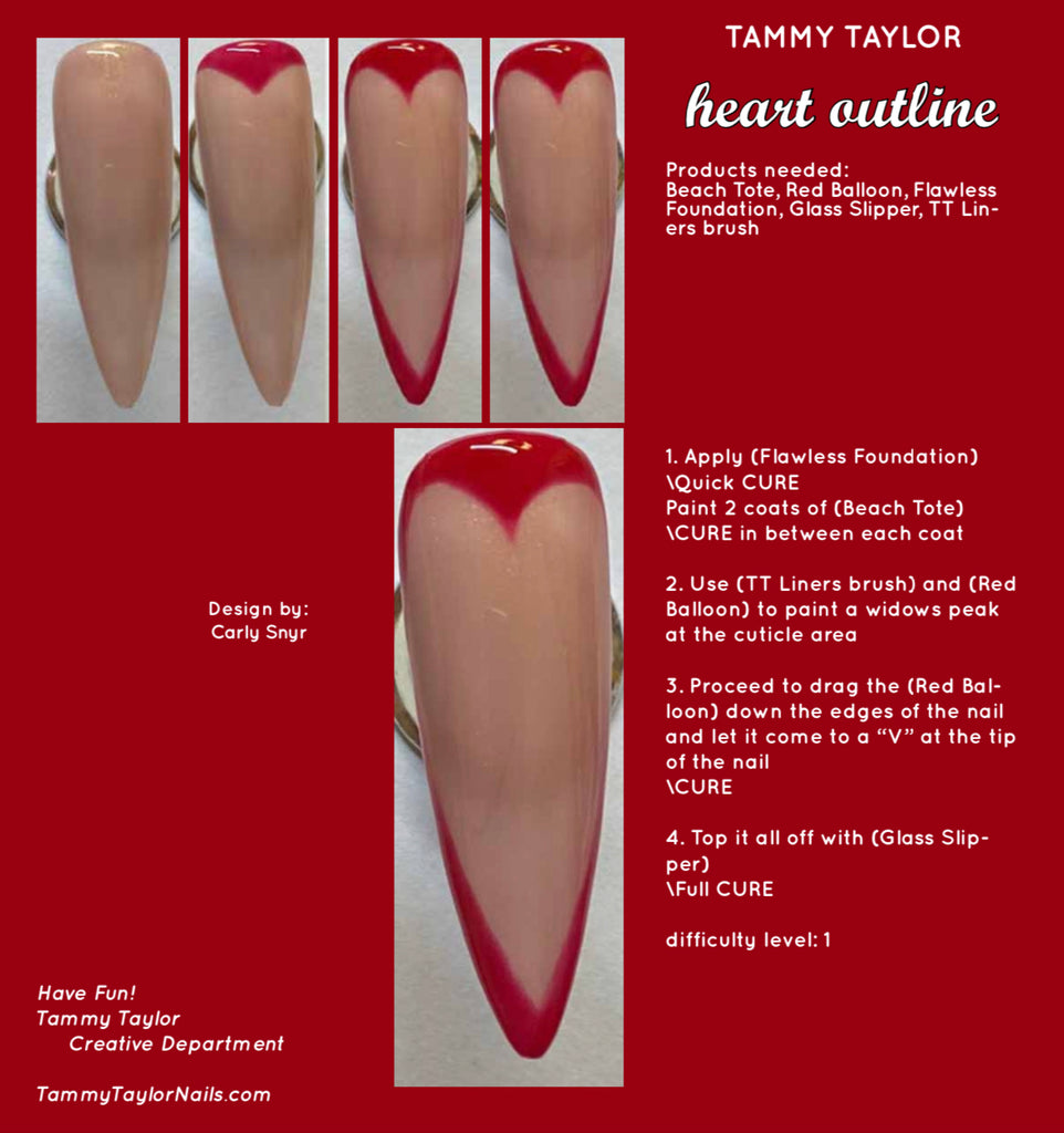 Heart Outline Step By Step Bundle