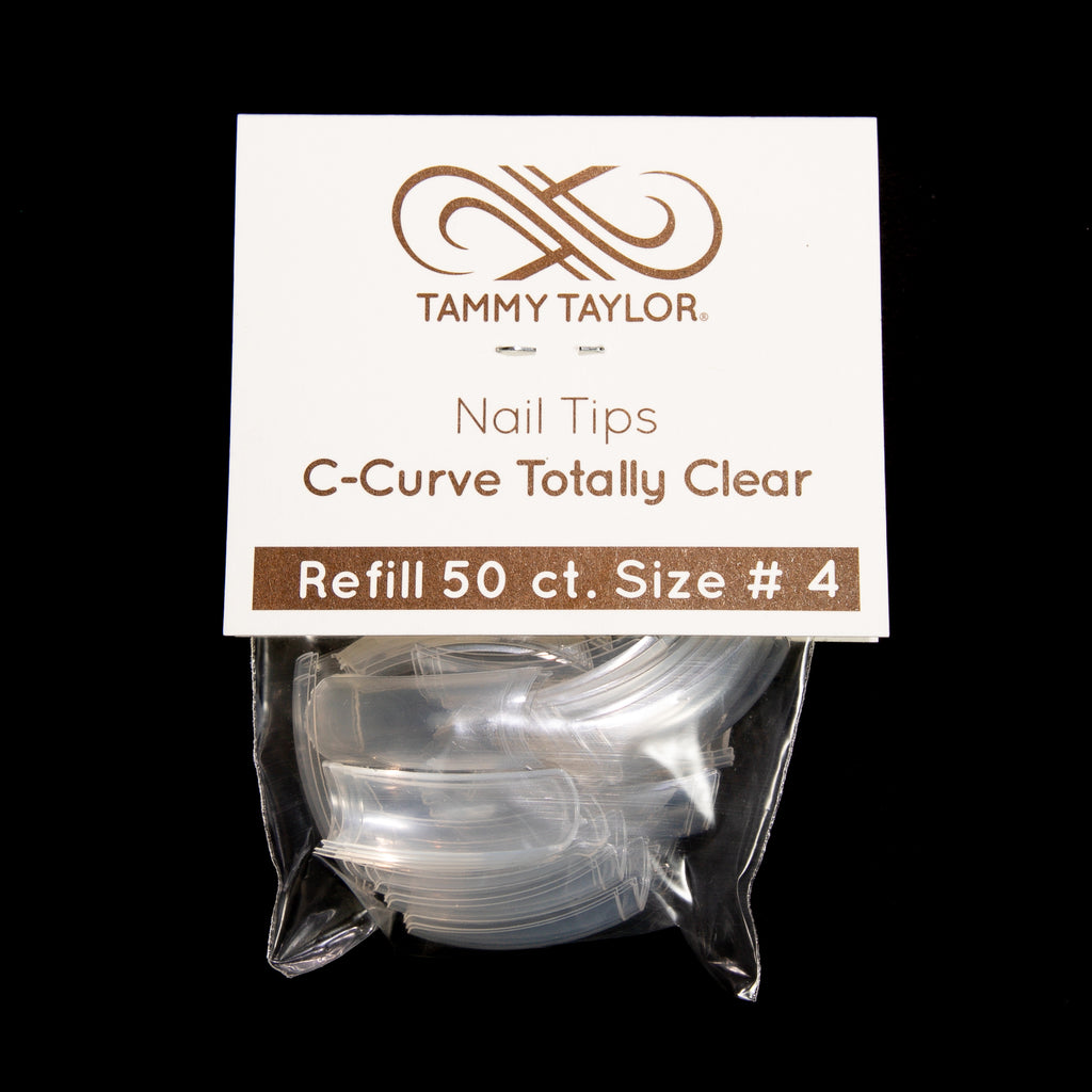 C-Curve Totally Clear Nail Tips *Refill Package*