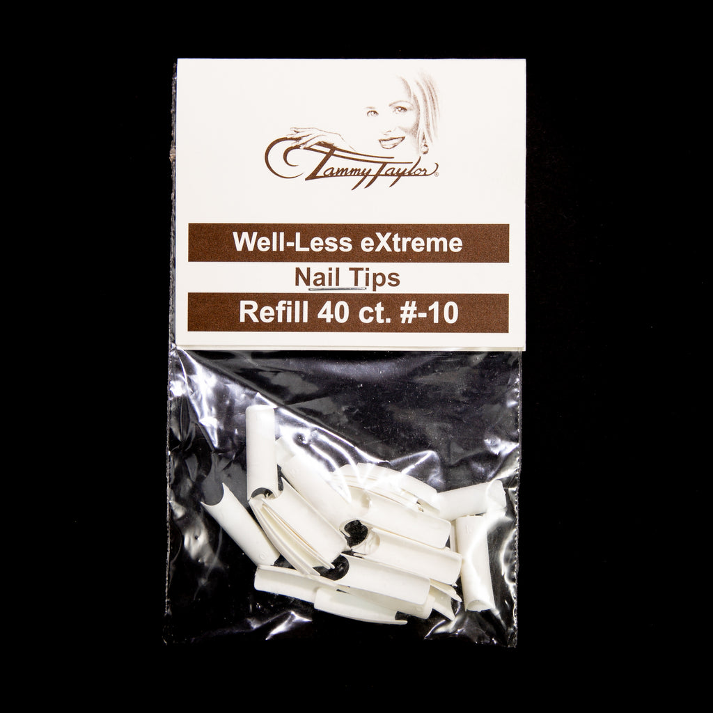 (Pre-Etched) Whitest White Well-Less Nail Tips *Refill Package*