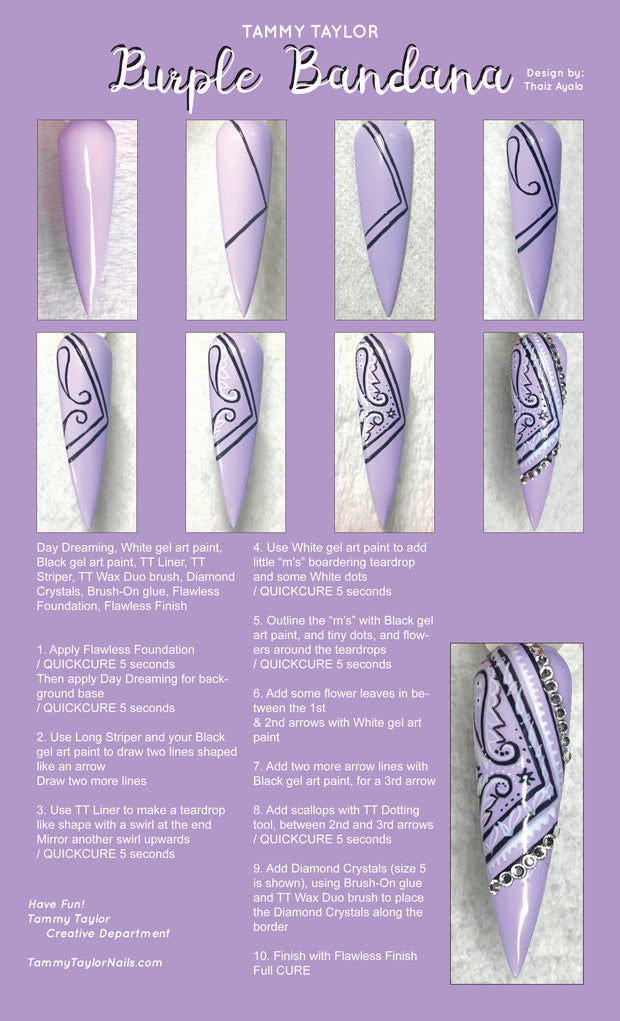 Purple Bandana Step By Step Bundle