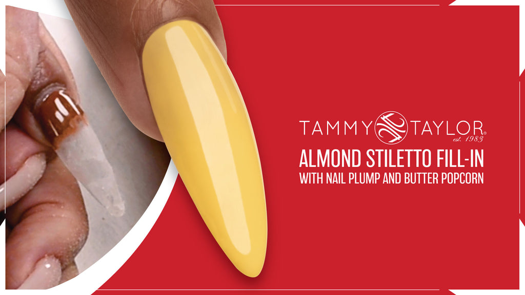 Almond Stiletto Fill-In with Nail Plump and Butter Popcorn Bundle