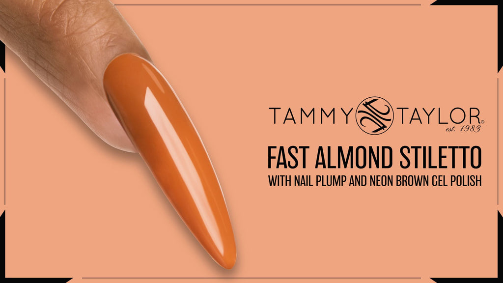 Fast Almond Stiletto with Nail Plump and Neon Gel Polish Bundle
