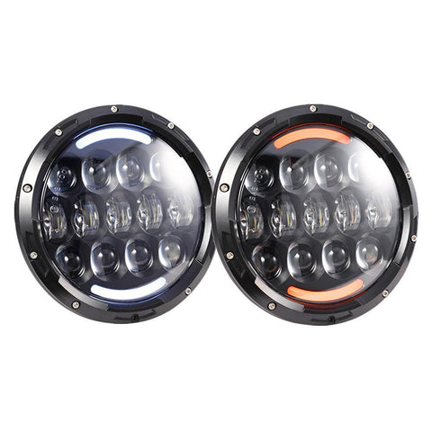 7 Inch Round LED Projector Headlight with DRL for Jeep Wrangler JK TJ LJ CJ Harley Motorcycle H6014/H6015/H6024