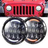 "AVEC 7"" ROUND CP OPTIC LED HEADLIGHT 105W LED REPLACEMENT LAMPS PAIR H6014/H6015/H6024"