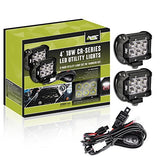 2x 18w Cr Series LED work light kit w/ Harness
