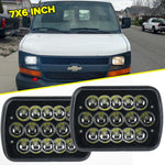 AVEC BLACK 7X6 LED SEALED BEAM REPLACEMENT LAMP CONVERSION H4