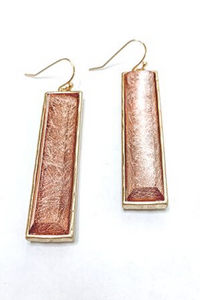 Rose Gold Shimmer Earrings