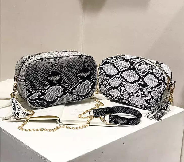 Snakeskin Crossbody Handbag