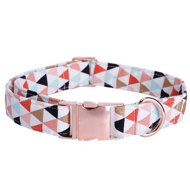 Flag collar w/ rose gold buckle