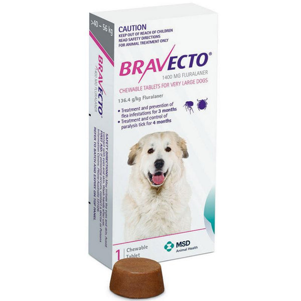 Bravecto Very Large Dog Purple 40-56Kg 1 Pack