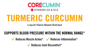 CoreCumin® (30 mL) Natural Joint & Immune System Support (3-Pack) in MIRON Violetglass