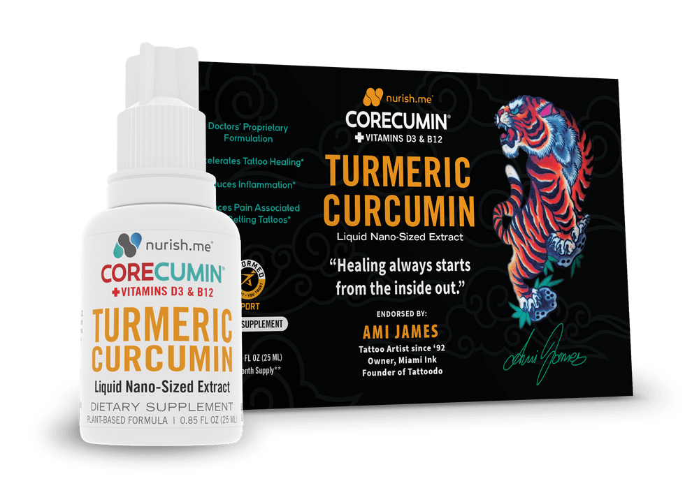 CoreCumin® (25 mL) Natural Joint & Immune System Support & Tattoo Healing - Ami James, Limited Edition