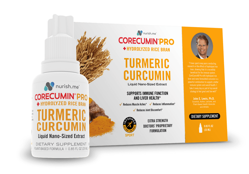CoreCumin® 25 mL PRO Advanced Formulation with Hydrolyzed Rice Bran Supports your Immune System and other key indicators of health status