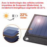 Chargeur solaire USB - Technov