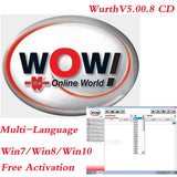 WOW Wurth 5.00.8R2 Software for WOW Snooper Scanner Multi-languages