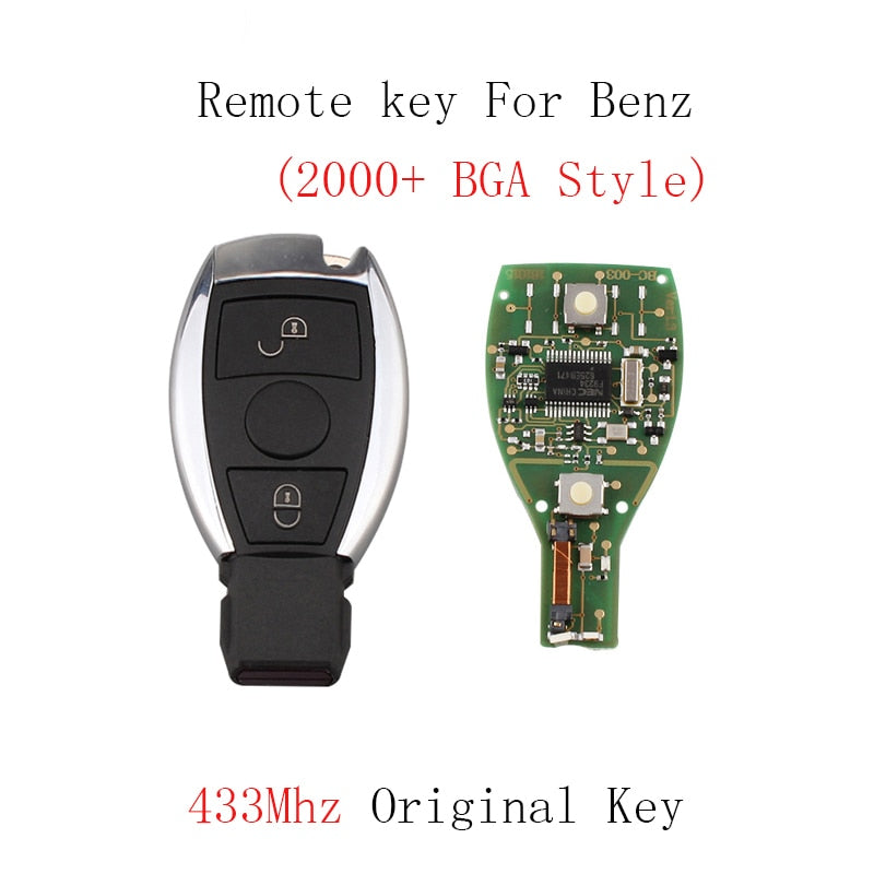 2Buttons Remote Key Keyless Fob For Mercedes BENZ 2000+ NEC&BGA style - Car Diagnostic Tool