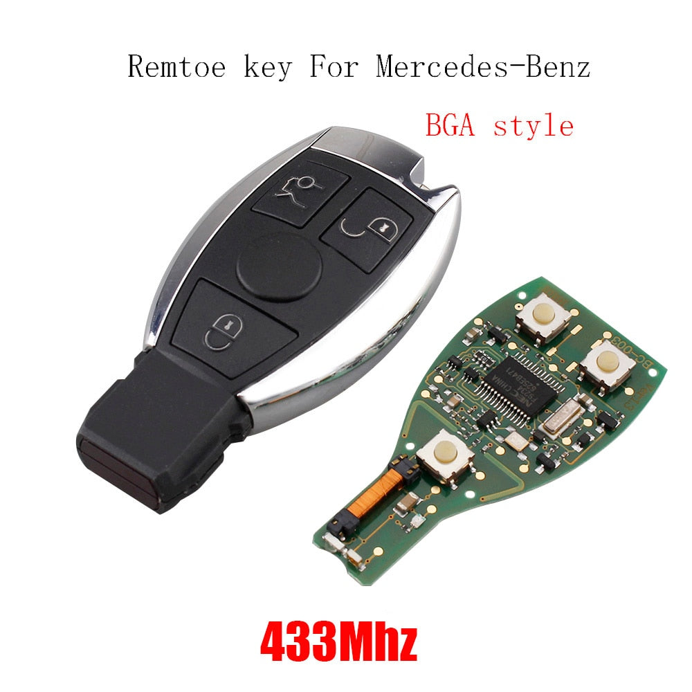 3 Buttons 433mhz Remote Key For Mercedes Benz year 2000+ NEC&BGA style - Car Diagnostic Tool