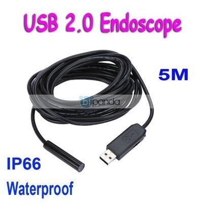 Mini USB 2.0 Endoscope Waterproof 5M Cable Inspection Camer