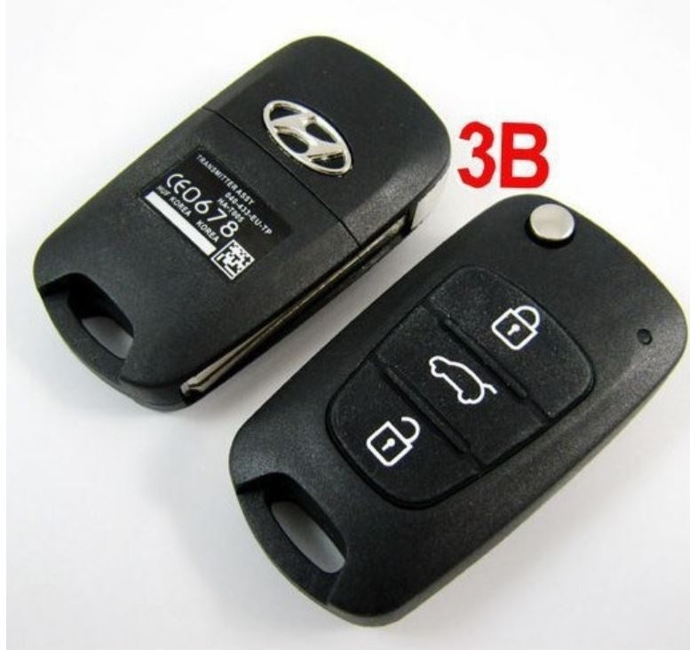 BRAND NEW Replacement Flip Folding Key Shell for Hyundai Accent Remote Key Case Fob 3 Button - Car Diagnostic Tool