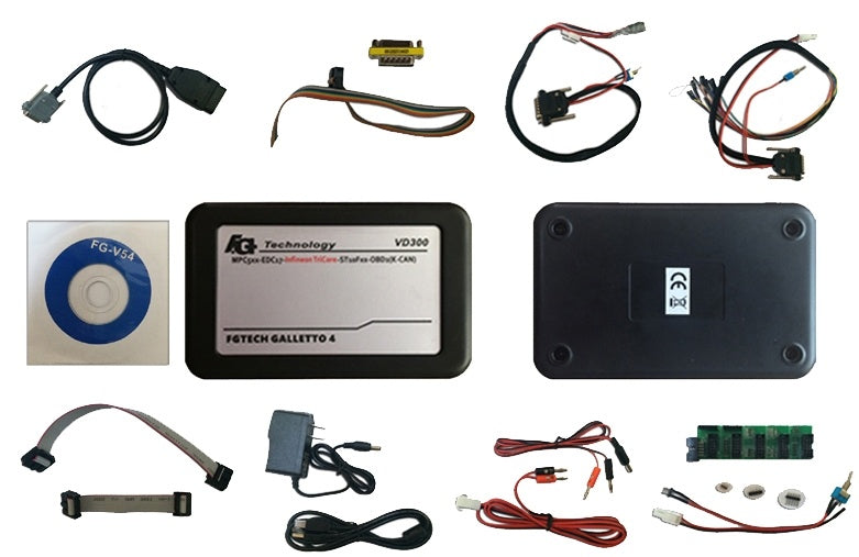 Latest Version VD300 V54 FGTech Galletto 4 Master BDM-TriCore-OBD Function FG Tech ECU Programmer with Multi-langauge