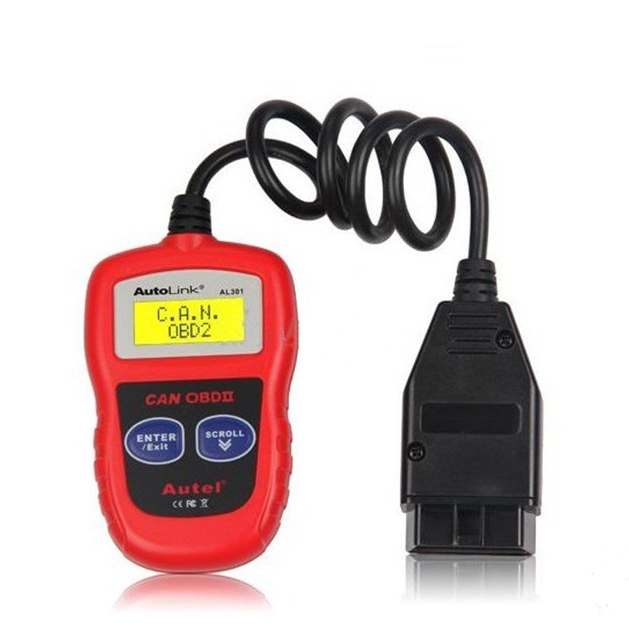 Autel AutoLink AL301 OBDII/CAN Code Reader Read and Clear Diagnostic Trouble Codes (DTCs) - Car Diagnostic Tool