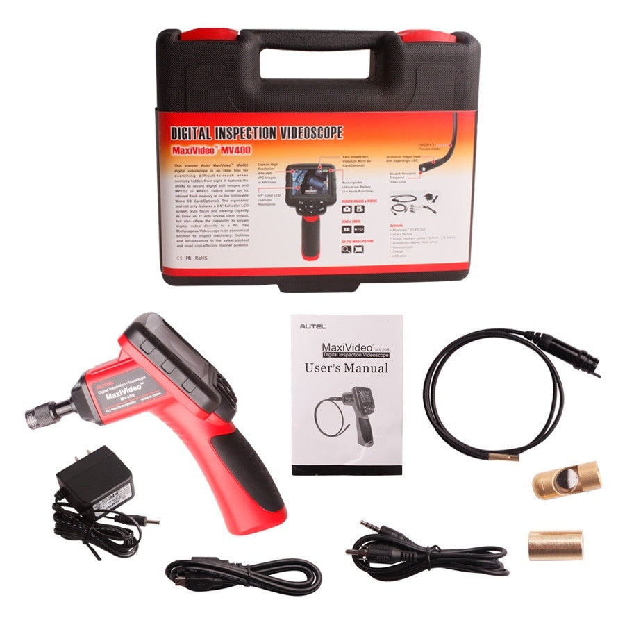 Autel Maxivideo MV400 Digital Videoscope With 5.5mm Diameter Imager Head Inspection Camera - Car Diagnostic Tool