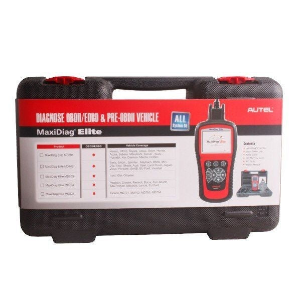 Autel Maxidiag Elite MD702 With Data Stream Function Europen Vehicles For All System Update Online - Car Diagnostic Tool