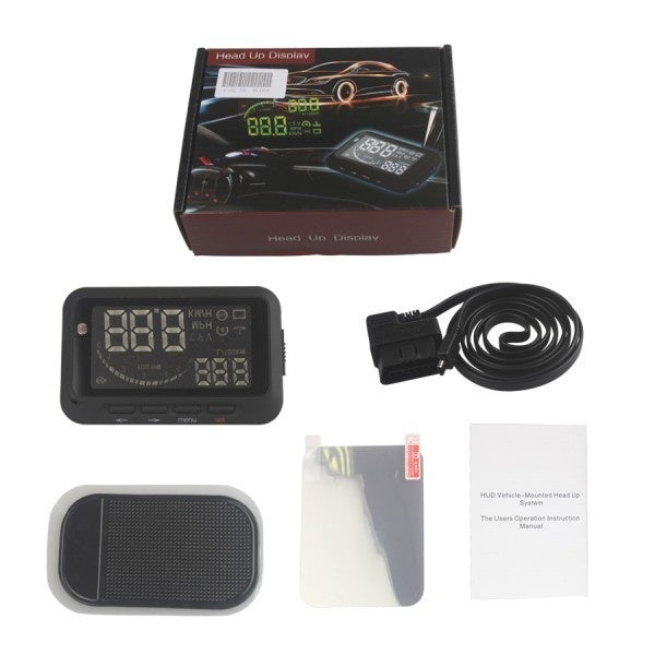 Car HUD Car Head Up Display Vehicle-Mounted HUD Overspeed Warning OBD2 System F02 - Car Diagnostic Tool