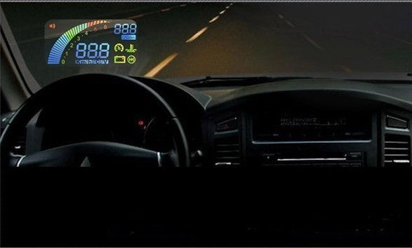 F01 Car HUD Vehicle Head Up Display OBDII OBD2 Over Speeding Warning with High Quality