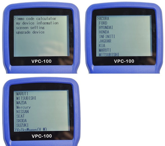 VPC-100 Hand-held Vehicle PinCode Calculator (With 200+300 Tokens)