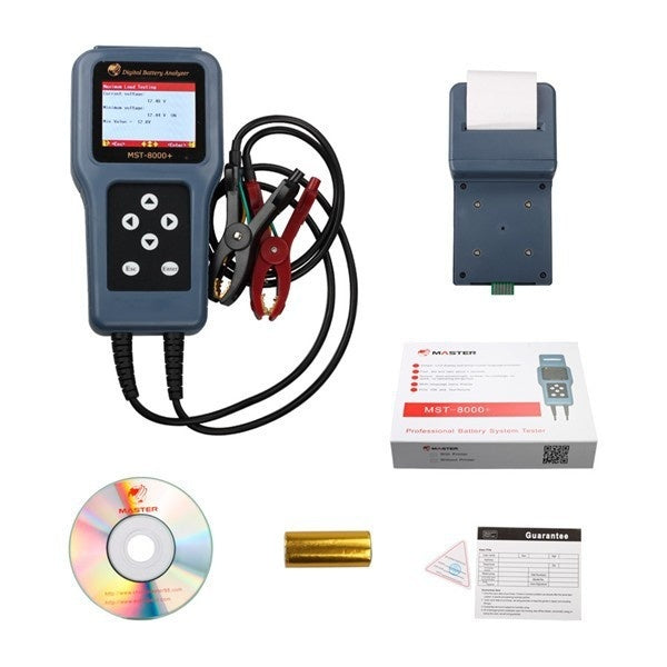 MST-8000+ Digital Battery Analyzer With Detachable Printer Support 12V