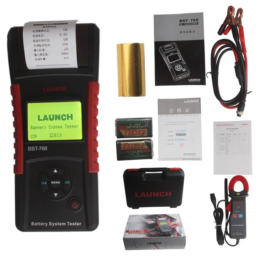 Original BST760 Battery Tester Launch BST-760 Battery Tester Support English/Russian Language