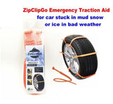 ZipClipGo is a Emergency Traction Aid Can be used 10-22 Inches for Cars, SUVS, Trucks