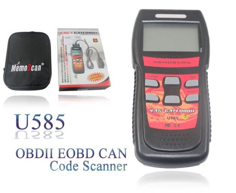 U585 OBDII EOBD CAN Code Scanner OBD2 Reader for VW Audi Skoda, Seat work on cars & light trucks that are OBD II compliant